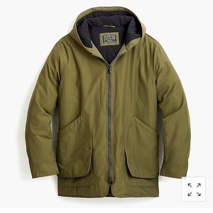Jcrew Fleece Lined Hooded Jacket